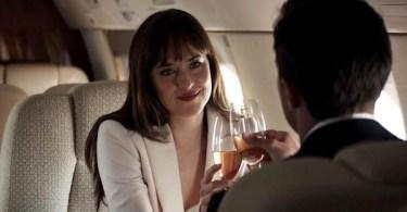 Dakota Johnson Jamie Dornan Private Jet Fifty Shades Freed