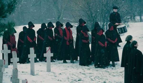 Black and Red Handmaids The Handmaids Tale Season 2