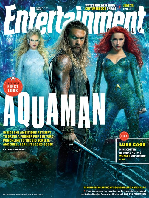Aquaman Entertainment Weekly Cover June 25, 2018