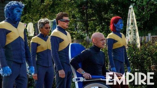 Jennifer Lawrence Nicholas Hoult Alexandra Shipp Tye Sheridan James McAvoy X-Men Dark Phoenix Empire Magazine