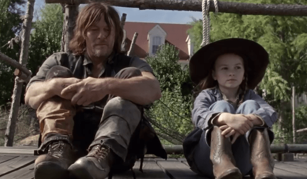 Norman Reedus Cailey Fleming The Walking Dead Scars