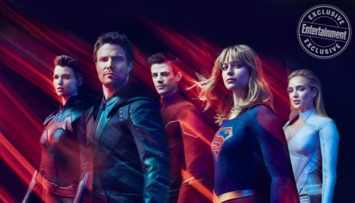 Stephen Amell Barry Allen Grant Gustin Melissa Benoist Caity Lotz Ruby Rose Entertainment Weekly August 2019
