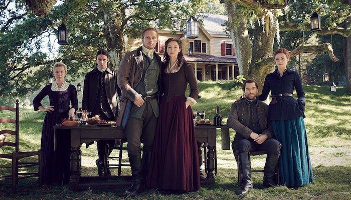 Sam Heughan Caitriona Balfe Sophie Skelton Richard Rankin Outlander Season 5