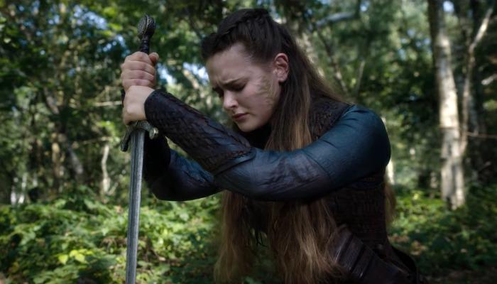 Katherine Langford Kneeling Cursed