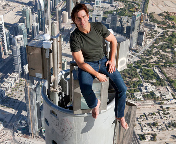 Tom Cruise na Burj Khalifa