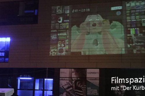 Filmspaziergang mit Kurbel in Karlsruhe