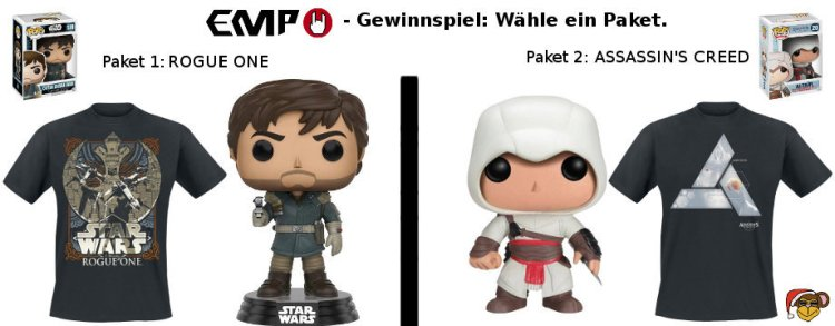 EMP Gewinnspiel - Preise: ROGUE ONE - A STAR WARS STORY & ASSASSIN'S CREED