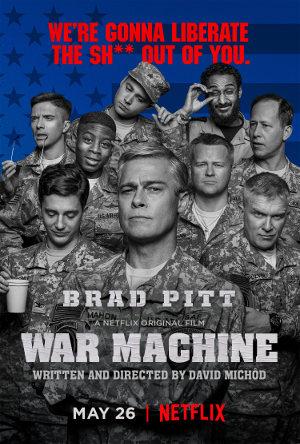 War Machine - Poster   Eine Militär-Satire mit Brad Pitt
