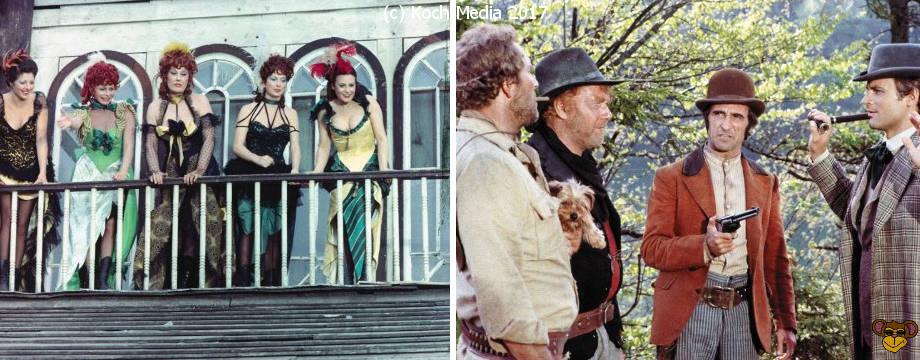 Verflucht verdammt und halleluja - Szenenbilder | Hier sehen wir Terence Hill in gefährlich-komischen Situationen
