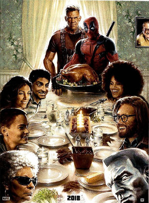 Deadpool 2 - Teaser   Thanksgiving mit Cable