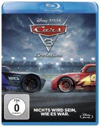 Cars 3 - Evolution - Blu-Ray-Cover   Animationsfilm - Teil drei der Pixar-Reihe