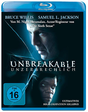 Unbreakable - BluRay-Cover | Comicverfilmung mit Bruce Willis