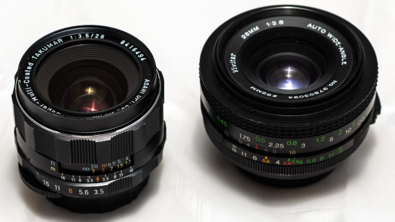 Vivitar 28mm f2.8 vs. Pentax SMC 28mm f3.5