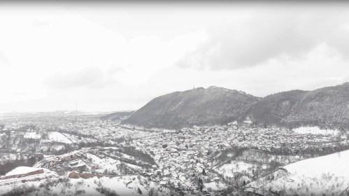 Brasov iarna - filmare cu drona