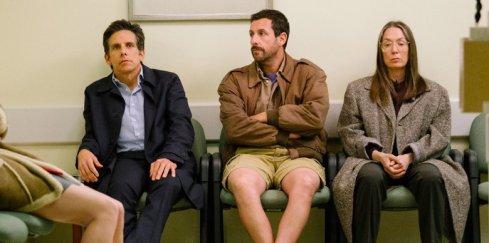 Matthew, Danny en Jean Meyerowitz in de wachtkamer