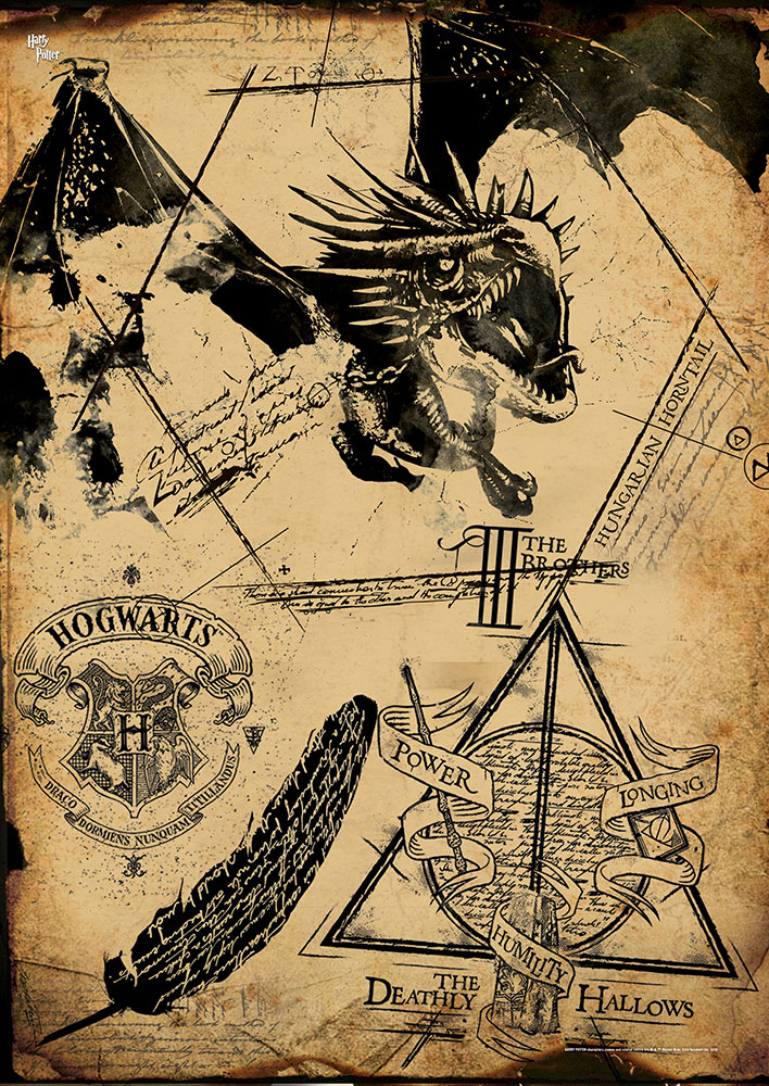 Harry Potter Deathly Hallows Collage MightyPrint Wall Art MP17240194
