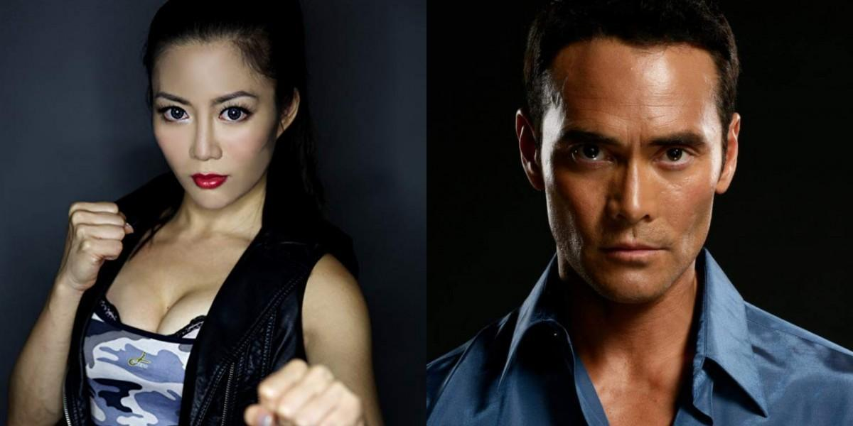 Juju Chan and Mark Dacascos in Wu Assassins