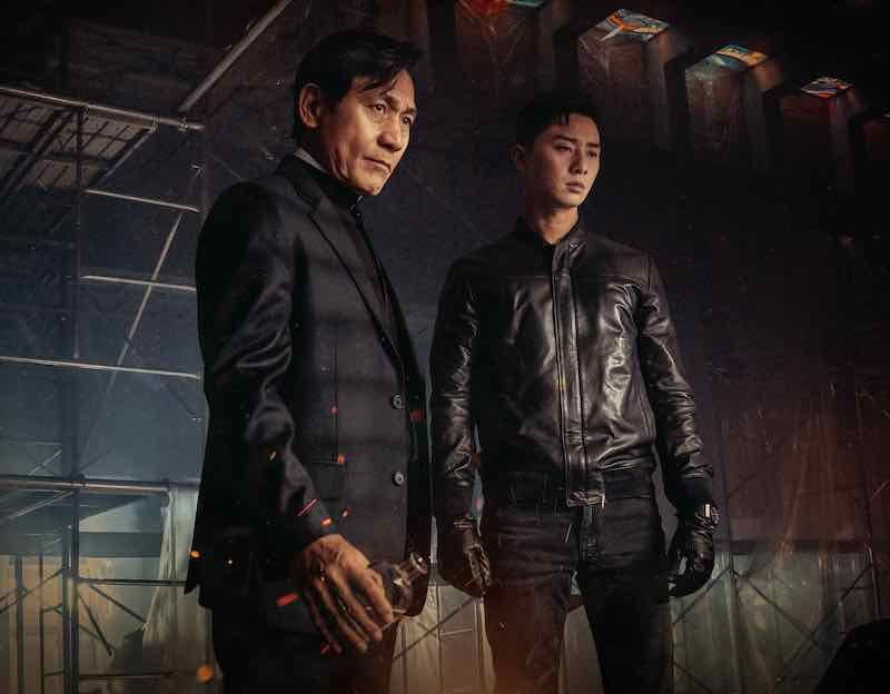 PARK Seo-Joon and AHN Sung-Ki in The Divine Fury (Well Go USA