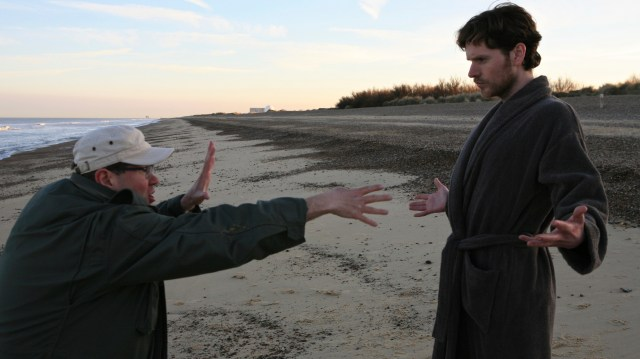 Directing actor Shaun Evans on THE LAST WEEKEND (photo courtesy of producer Christopher Hall)