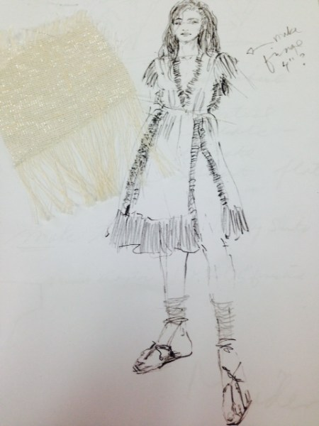 Nina's From Dusk Til Dawn costume sketch
