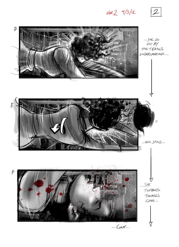 Anna Karenina storyboard 2 - David Allcock - Film Doctor