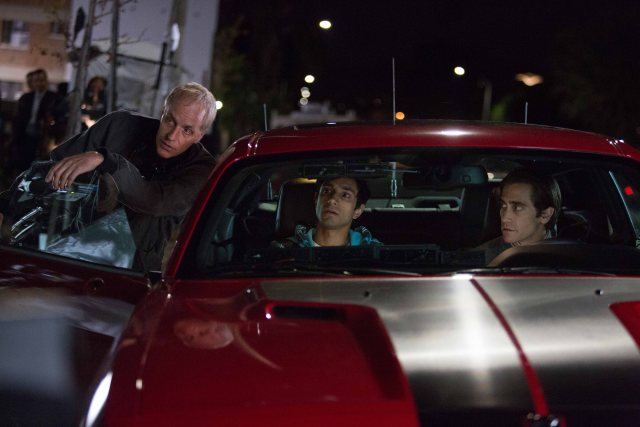 Nightcrawler - John's brother, Dan Gilroy, directs Gyllenhall and Ahmed - photo by Chuck Zlotnick