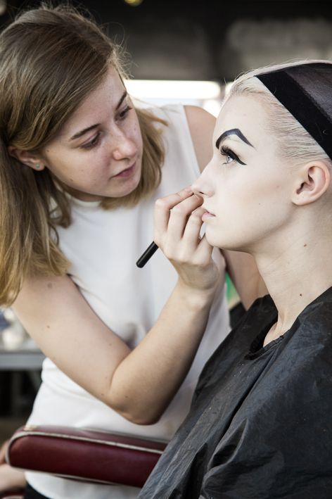 Students working at Christine's Make Up Academy