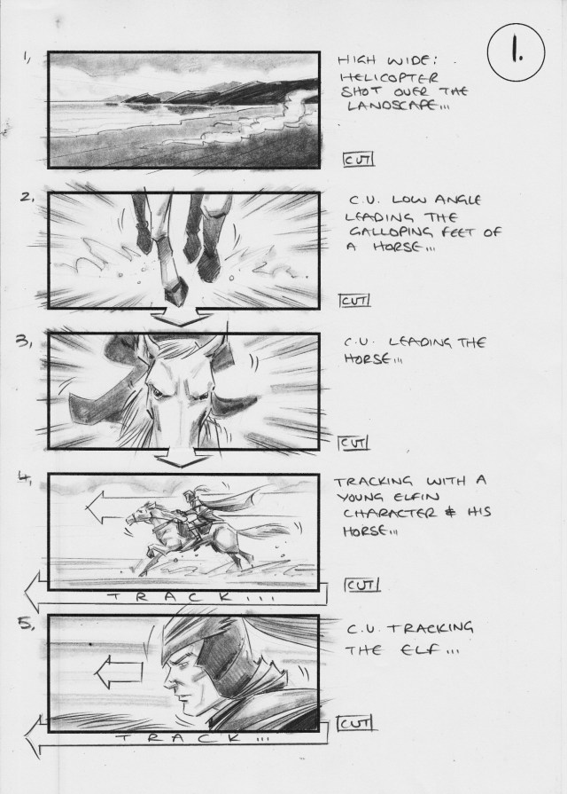 Samsung commercial storyboard by Simon Duric