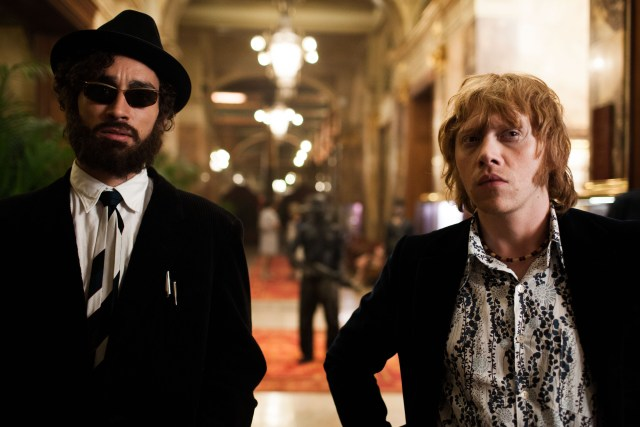 Robert Sheehan and Rupert Grint in Moonwalkers