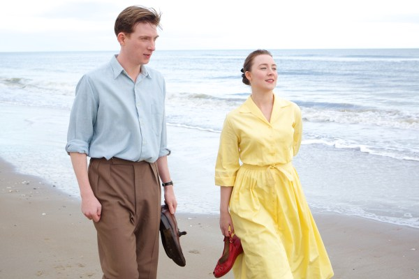 Domhall Gleeson and Saoirse Ronan in Brooklyn - photo courtesy of Lionsgate
