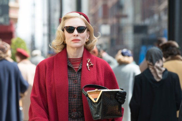 Cate Blanchett in Carol (costume designed by Sandy Powell)
