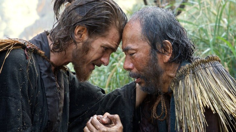 Andrew Garfield and Shinya Tsukamoto in Martin Scorsese's Silence – photo courtesy of Paramount Pictures