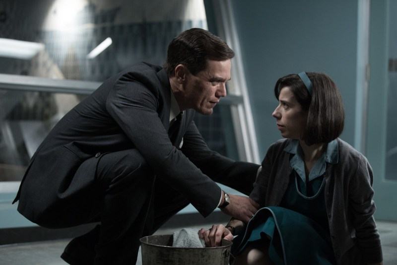 Michael Shannon and Sally Hawkins in The Shape of Water