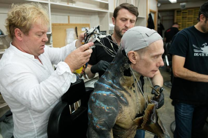 The Shape of Water's project supervisor Shane Mahan, actor Doug Jones and lead creature designer Mike Hill