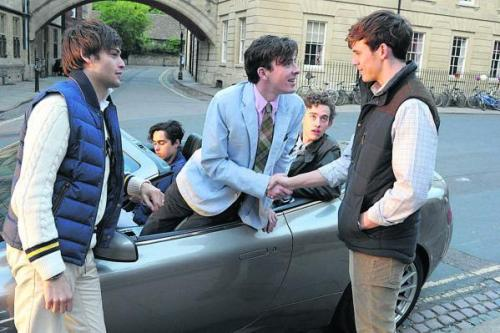 Car scene from the Riot Club. Photo: oxfordtimes.co.uk