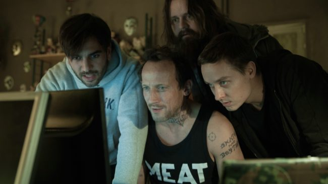 The hacker gang at work. © Sony Pictures