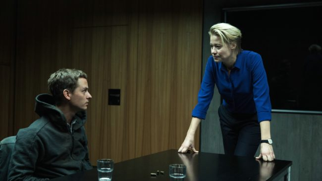Benjamin is questioned. © Sony Pictures