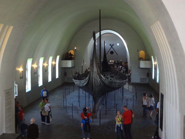 Another view at the Oseberg ship. © Sonja Irani / FilmFanTravel.com