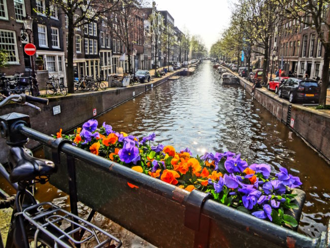 A typical view of Amsterdam.
