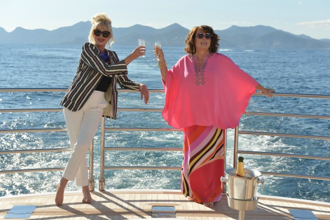 Eddie and Patsy living the high life in the South of France. © 2016 Twentieth Century Fox