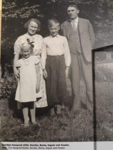 Ingvar with his parents and sister Kerstin