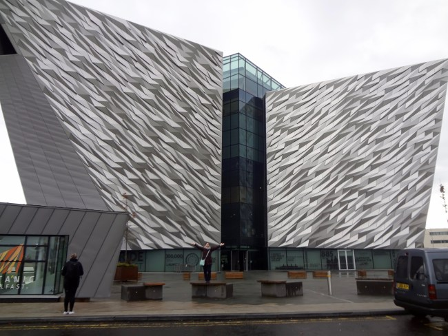 The building for the Titanic Experience in Belfast was designed as a huge iceberg, which has the same height as the original Titanic.