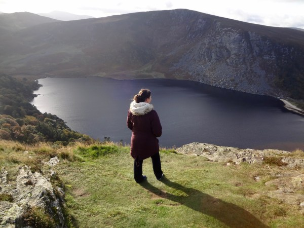 "Me at Loch Tay or Guinness lake in Wicklow County, Ireland – film location of ""Vikings"". © Sonja Irani / filmfantravel.com"