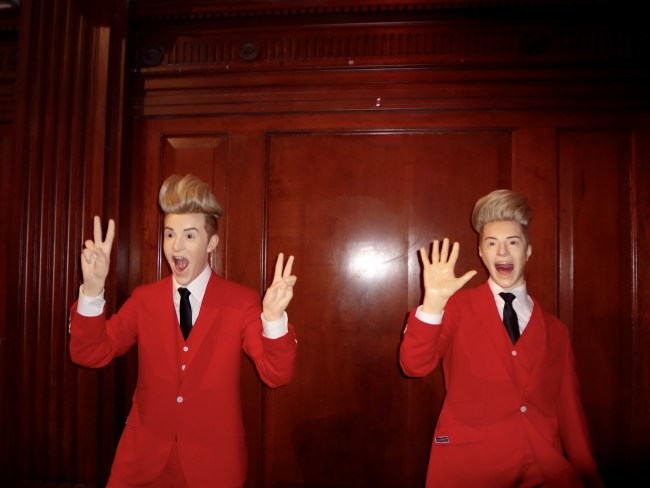 The Jedward twins at the National Wax Museum, Dublin. © Sonja Irani / filmfantravel.com