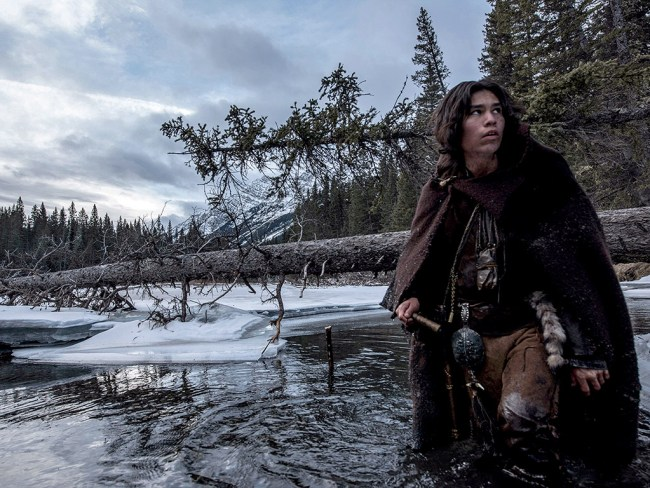 "Glass' son Hawk in ""The Revenant"". © Twentieth Century Fox Film Corporation"