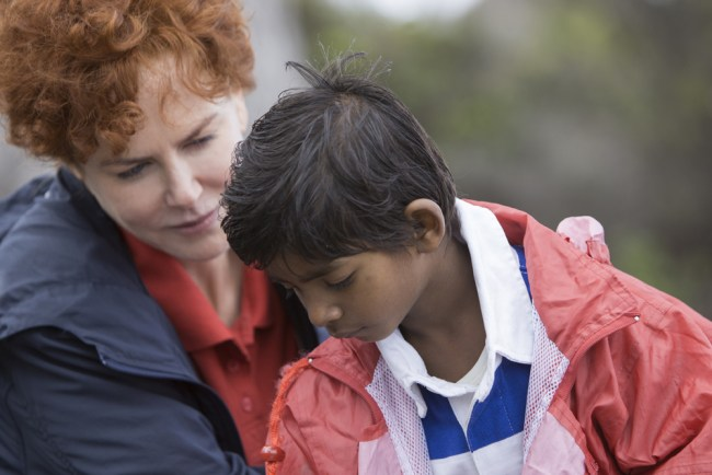 Saroo and his adoptive mother (portrayed by Nicole Kidman) in Tasmania. © Long Way Home Productions 2015