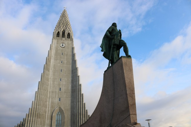 Geyser Church and Viking Memorial in Reykjavík