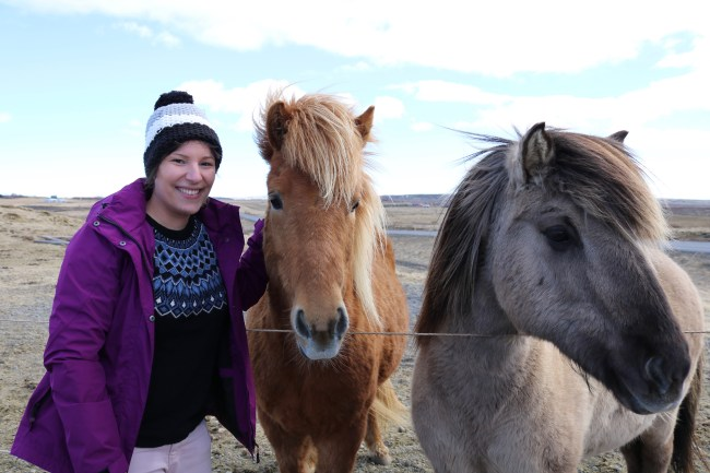 It was love at first sight! Me and the Icelandic horses!