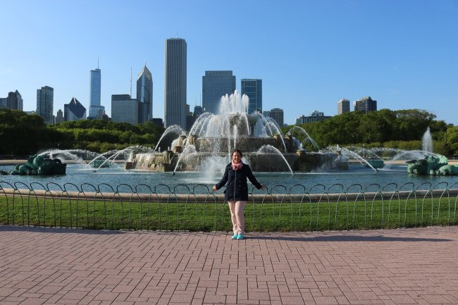 Me at the Buckingham Fountain
