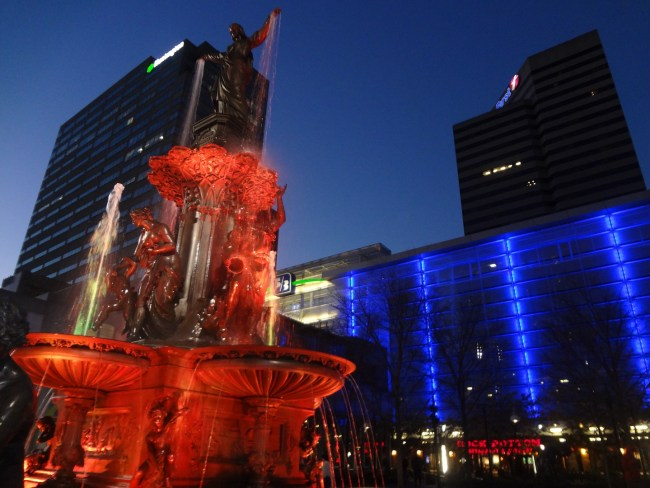Fountain Square in Downtown Cincinnati
